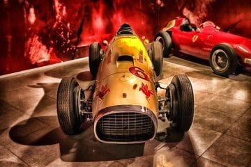 Ferrari voiture de course vintage